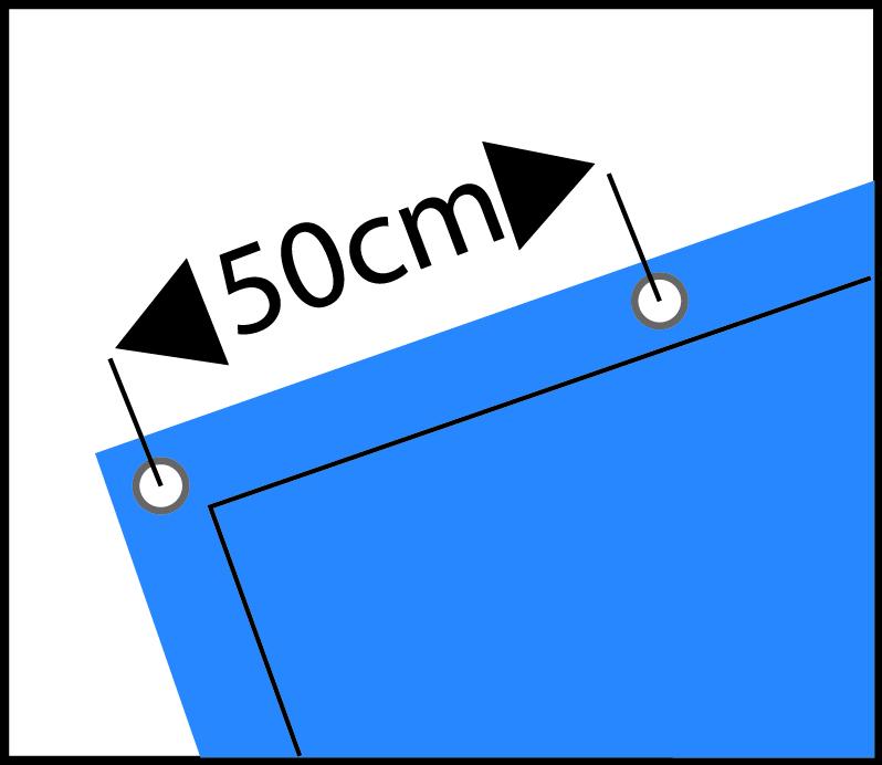 Picto ogen om de 50 centimeter blauw